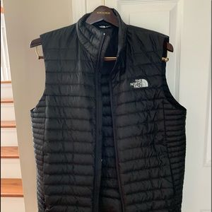 The North Face down vest for men.